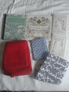 stof, malebøger og mønstre